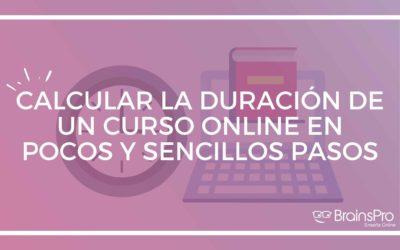 Calcular la duración de un curso online en pocos y sencillos pasos