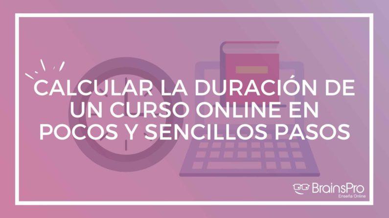 Calcular duración de un curso online