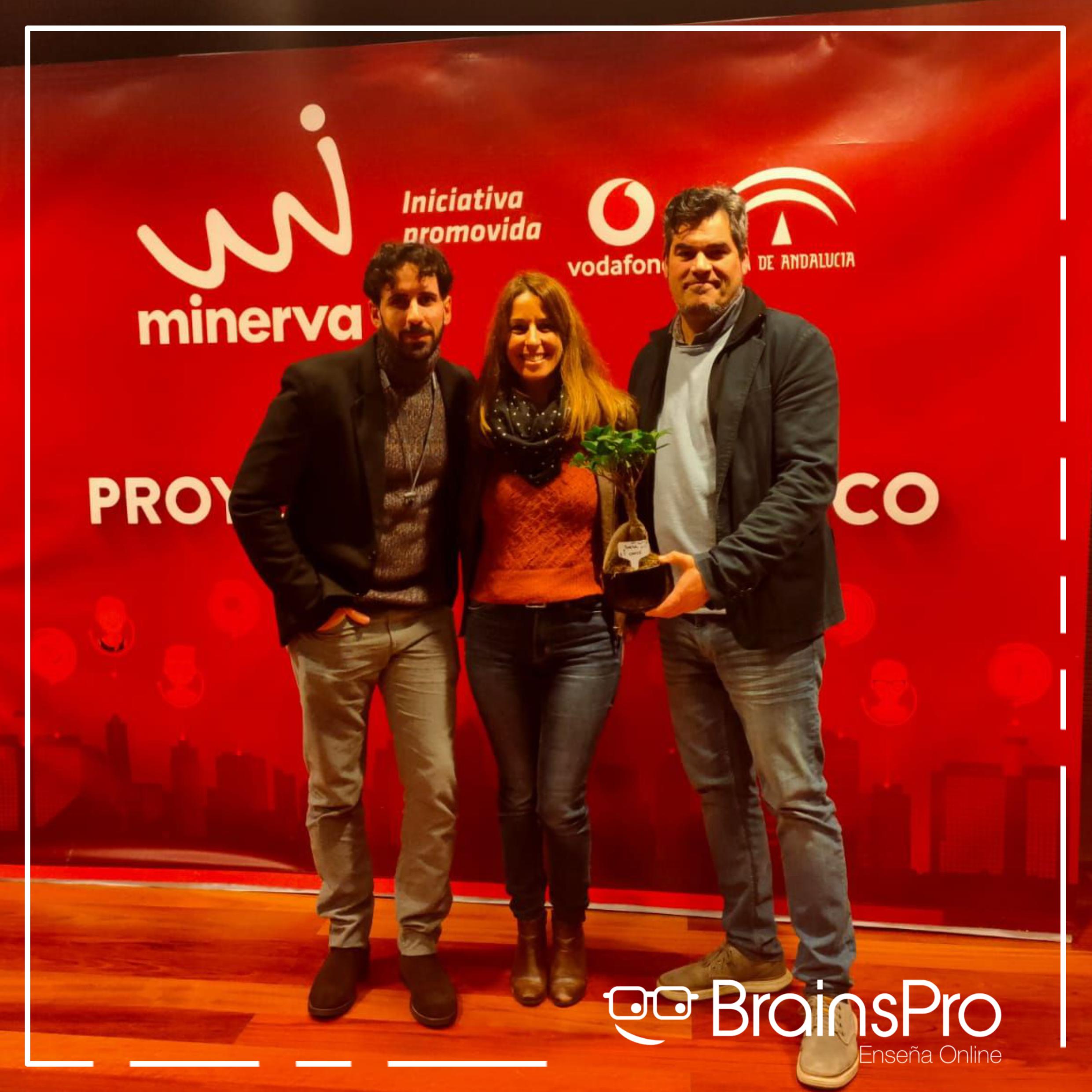 Ganadora del premio a la mejor startup Programa Minerva 2020